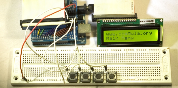 Tutorial: manage menu and LCD display with Arduino – Coagula